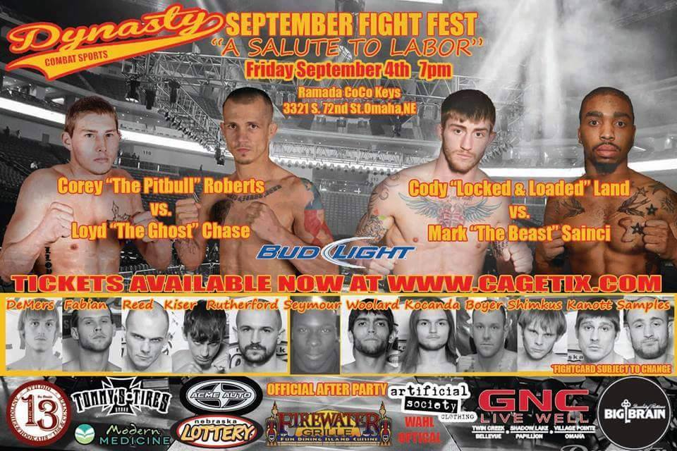 Dynasty Combat Sports 19: September Fight Fest – A Salute to Labor