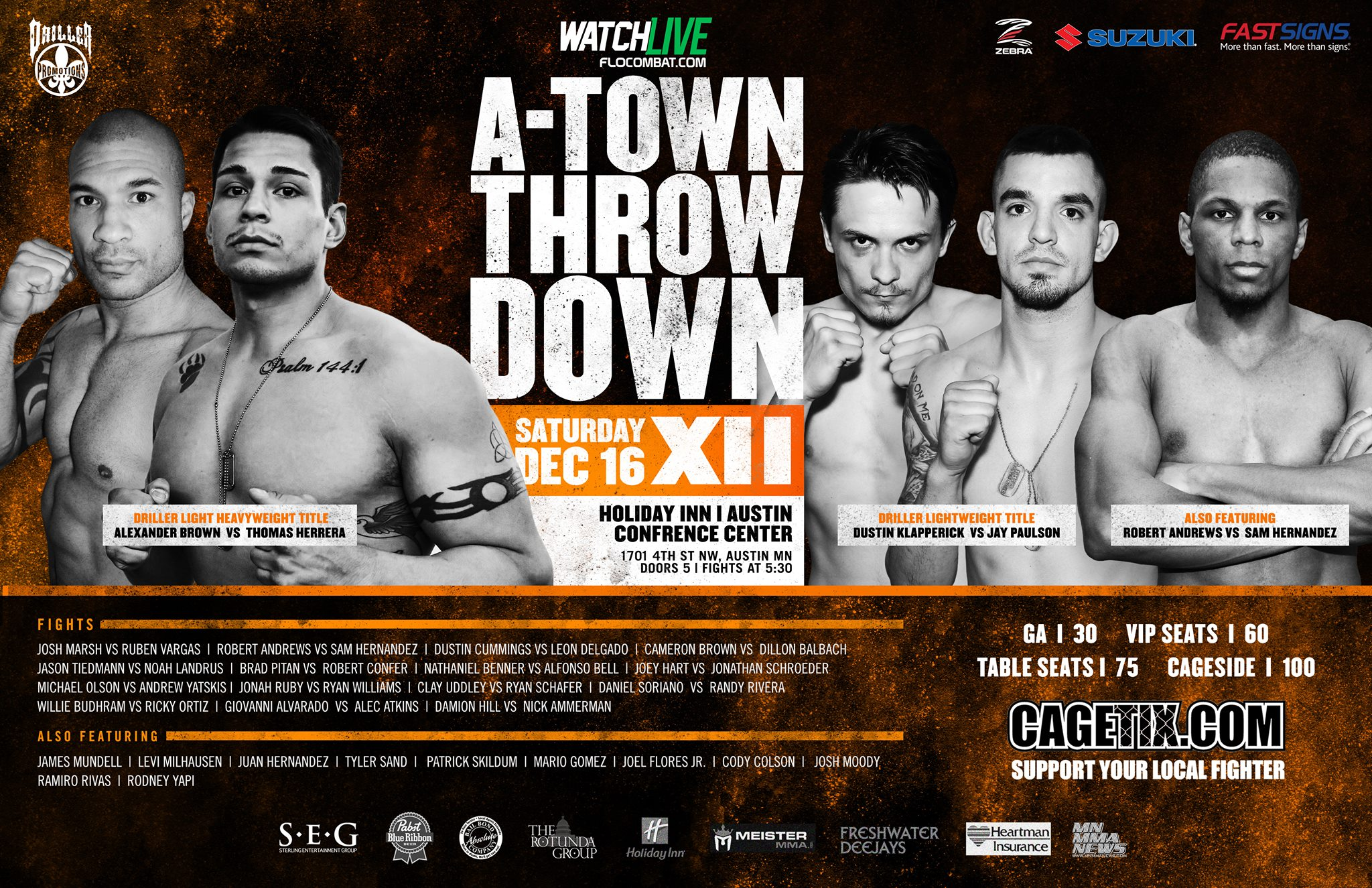 Driller Promotions: A-Town Throwdown XII - MMA Futures